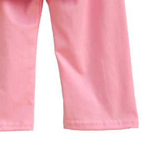 Giggle Moon Girls Pink Summer Clothes Ruffle Ice Cream Top Cotton Pants Cheap Price Children Remake Spring Outfits S092