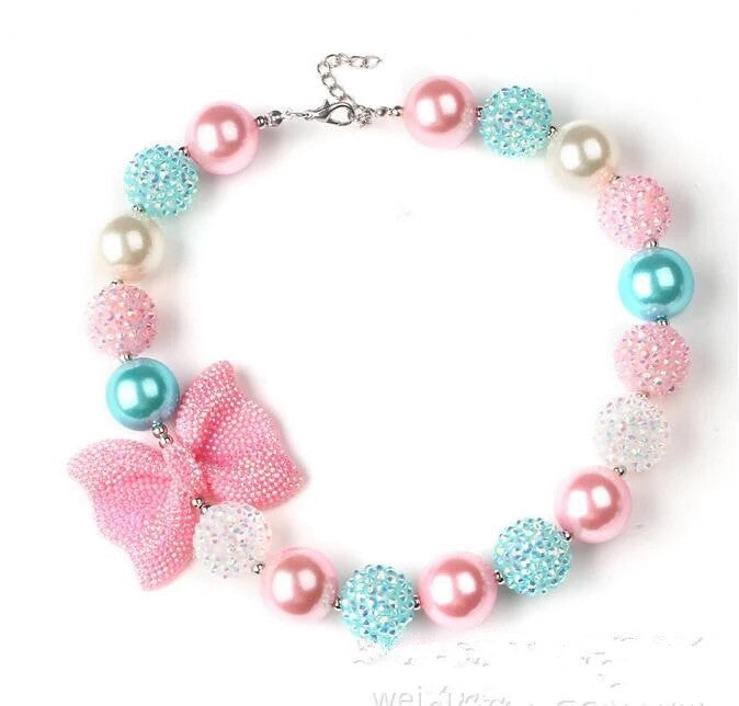 Cotton candy bubble gum necklace