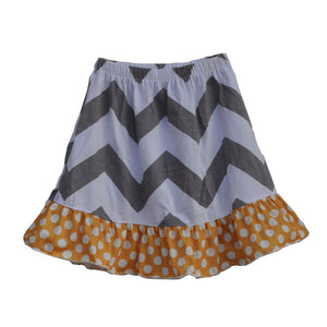 chevron pattern skirt