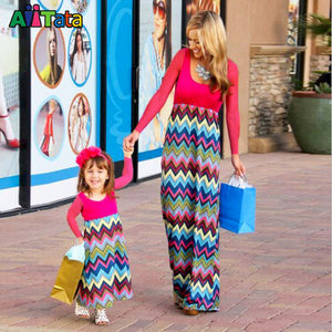 colorful chevron Matching Outfits Mother and daughter clothes