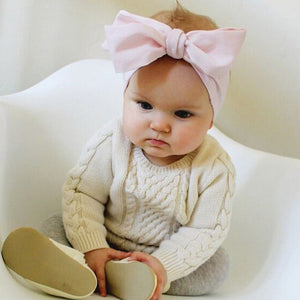 Fashion   Headwraps Top Knot Solid color big Bow Headband Children Infants DIY Headwear Turban  Hair Accessories