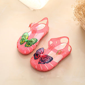 Summer Mini Melissa Jelly Sandals For Baby Girls Kids Double Butterfly Flat