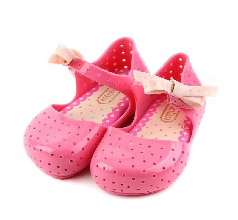 Summer Toddler Girls Shoes Mini Melissa Jelly Sandals for Baby Girls Beach Shoes Kids Infantil Sandals Jelly Shoes 12-17cm