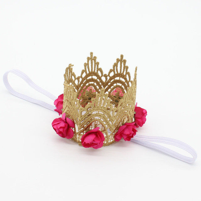 Retail  Flower Crown Tiaras  Crown Headbands newborn photo props   Birthday hair accessories
