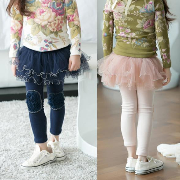 Winter Kids Girls Tutu Skirt Clothes Pants 2-7Y High Quality