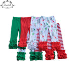 Christmas Baby Girls Pants Icing Ruffle