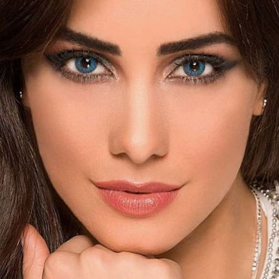 Freshlook Colorblends Brilliant Blue Contact Lenses - 6 pack (2 week wear)