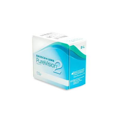PureVision 2 Contact Lenses - 6 pack (1 month wear)