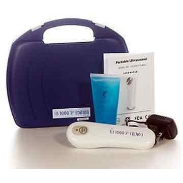 US Pro 1000 3rd Edition Portable Rehab Ultrasound Unit 1 mHz+Free Ultrasound Gel