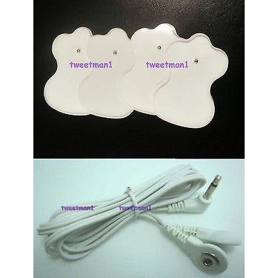 COMPATIBLE 3.5mm LEAD CABLE Omron 3030, TENS CONVERTOR CABLE + 10 MASSAGE PADS