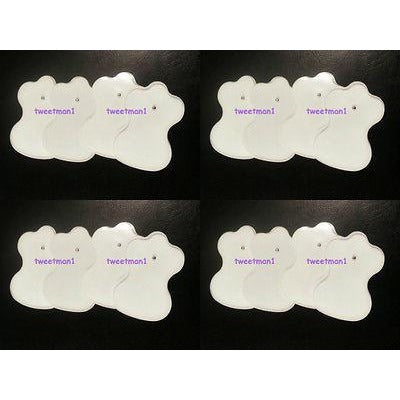 8 Pairs Replacement Pads (16) for Slimming Pain Relief Electronic Pulse Massager
