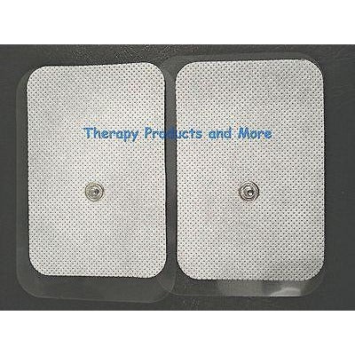 "XL Wide Electrode Replacement Massage Pads (8) (3.5"" X 2.3"") for Tens IFC NMES"