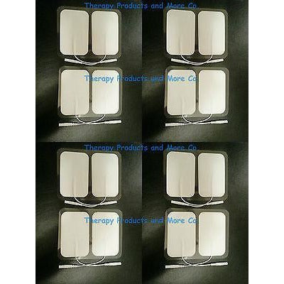 WIRED ELECTRODE PADS LG RECTANGULAR (16) FOR TENS DIGITAL ELECTRIC MASSAGER