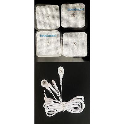 Compatible Cable and Pads (8) For Omron PM3030 HV-F125, HV-F126, HV-F127, HV-F128