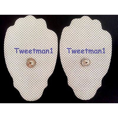 TENS Replacement Massage Pads Electrodes (20) 3.5mm Pin with Bonus