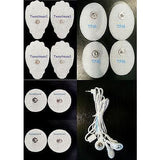 REPLACEMENT PADS(4LG+4SM OVAL+4SM) FOR DIGITAL MASSAGER+ LEAD WIRE(2.5mm Plug)
