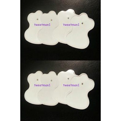 Electrode Pads 4 Pairs (8)for Eliking Digital Massager/Therapy Machine/TENS/NMES