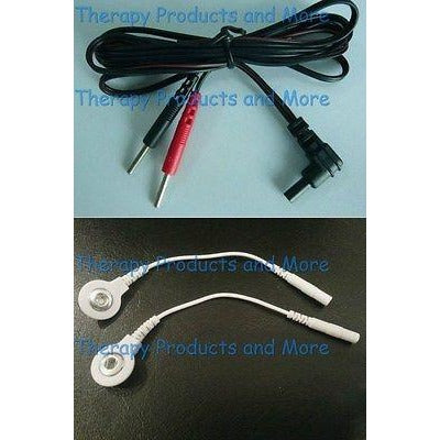 Replacement Electrode Cable for Precision TENS 3000, 7000 -USE SNAP OR PIN PADS