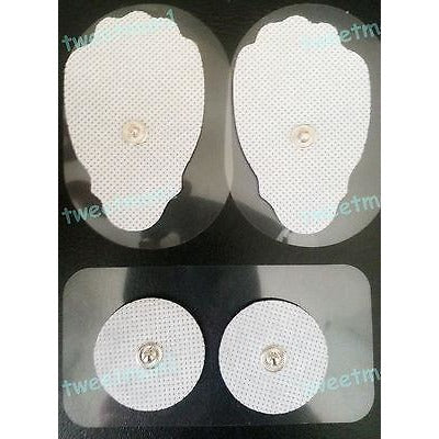 REPLACEMENT ELECTRODE PADS (2 LG, 2 SM) FOR ELIKING Digital Massagers REUSABLE