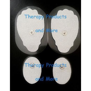 Replacement Electrodes Massage Pads Combo (2 Lg, 2 Sm Oval ) Ismart Compatible