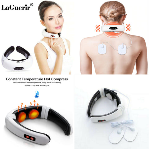 Electric Neck Massager Multi function 6 Modes Pulse Massage Far Infrared Heating