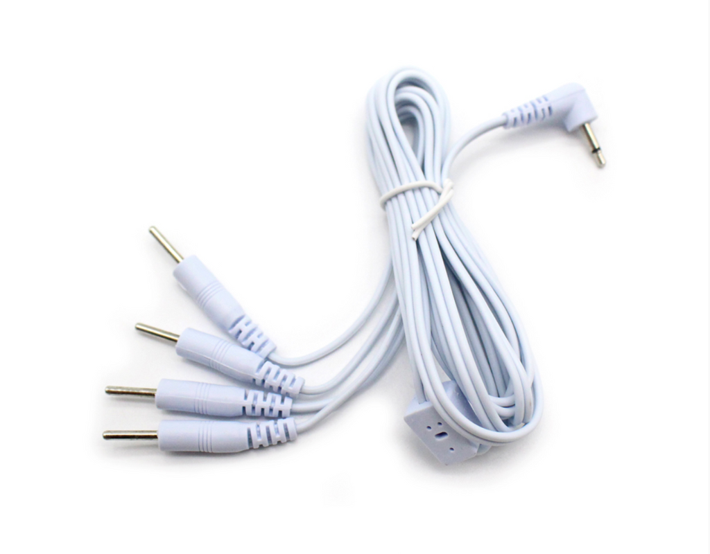 Electrode Lead Wires 3.5mm 4 Way Pin Connector Cables for Digital Massager/Tens
