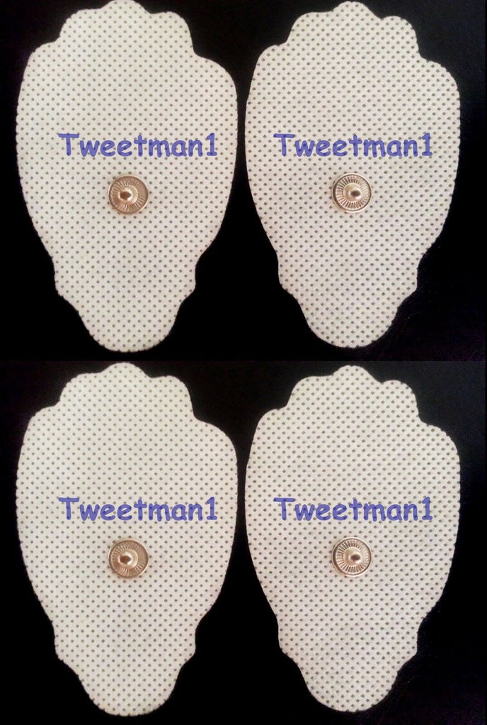 Replacement Electrode Pads (4) for T.E.N.S. Digital Pain Relief Device +Bonus