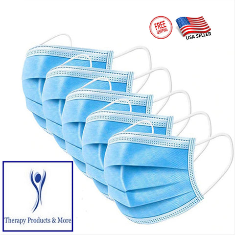3-Ply Disposable Face Mask Non Medical Surgical Earloop Mouth Cover 10 Pack