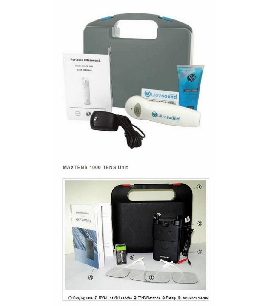 Ultrasound Portable Unit PM 2000 + Tens Pain Management Electrotherapy Package
