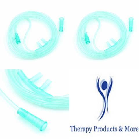 2 Pc Adult Soft Nasal Oxygen Cannula Tubing For Oxygen Concentrator Sealed Pkg