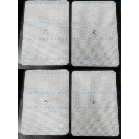 EXTRA WIDE BIG ELECTRODE MASSAGE PADS FOR BACK (4) FOR TENS DIGITAL MASSAGER