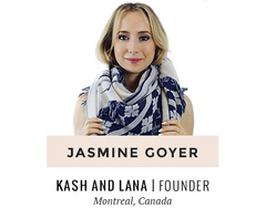 Jasmine Goyer | Kash and Lana Scarves | Montreal-based woman entrepreneur