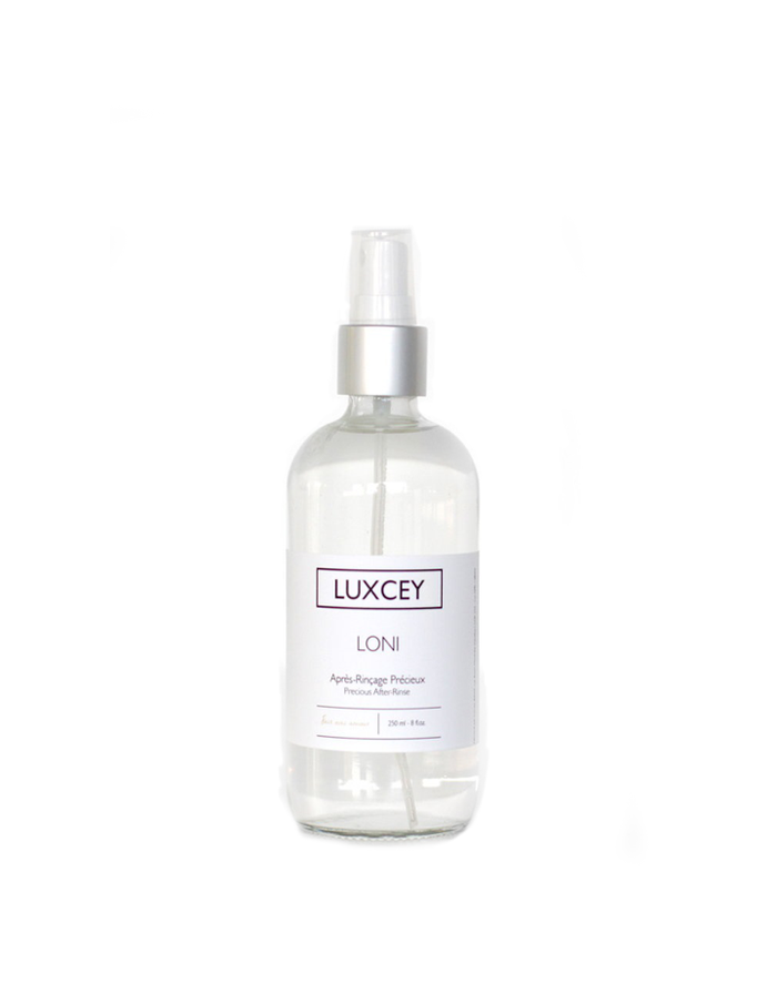Loni Precious After-Rinse by Luxcey designed to renew balance in hair and skin