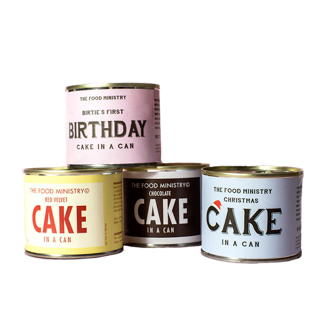 Birthday Cake In A Can The Food Ministry The Ivory Bow Co