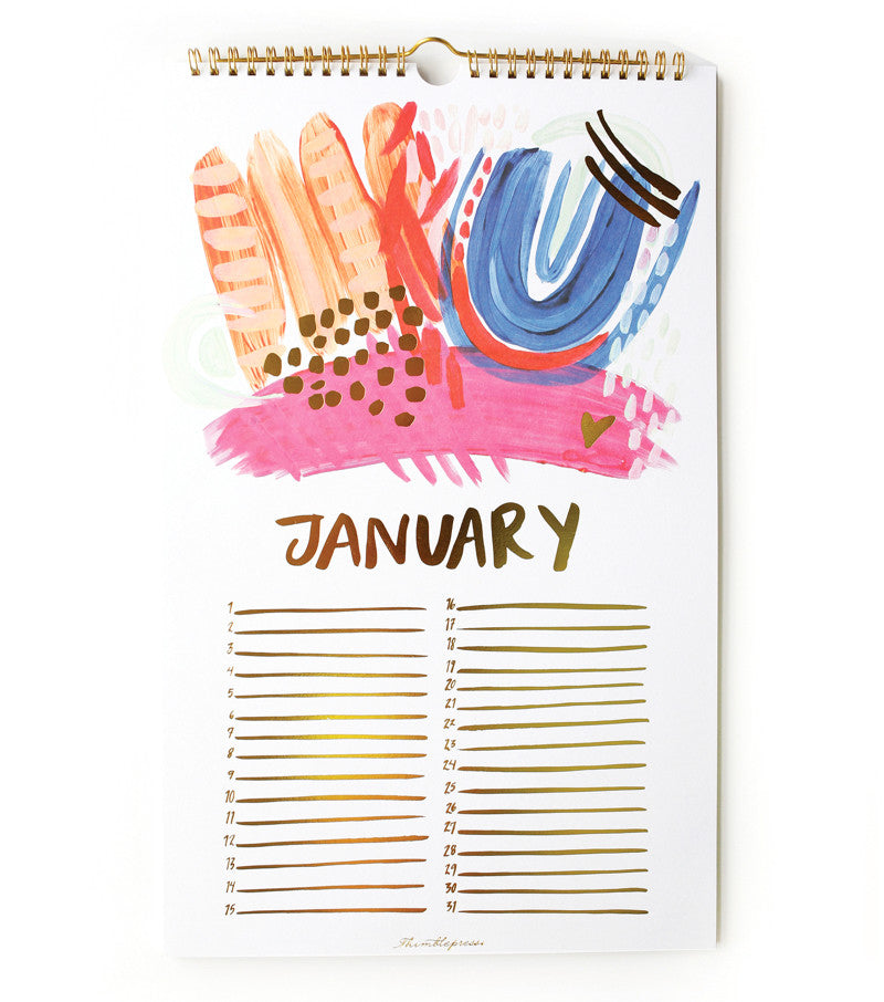 Thimblepress | Perpetual celebrations calendar and organizer ideal gift for newly engaged or expecting moms