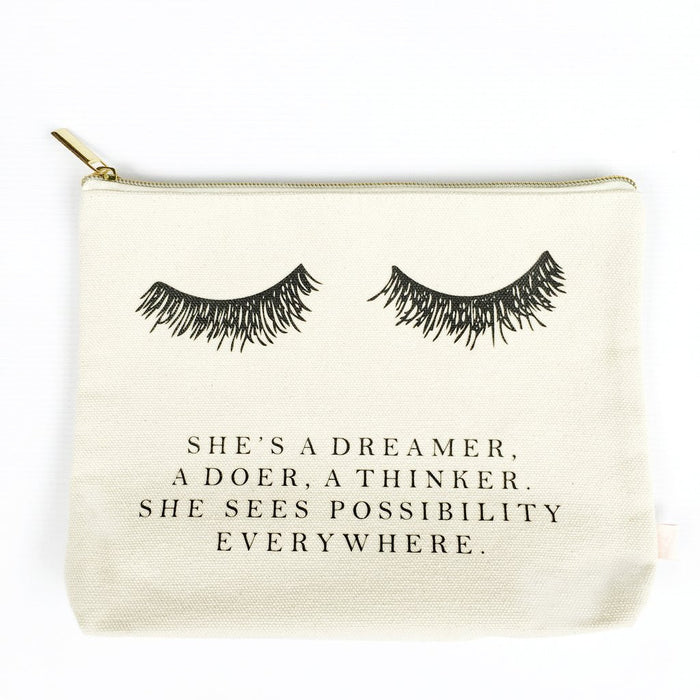 She's a Dreamer, a doer, a thinker, She sees possibility everywhere | Ultimate Girlboss Makeup Bag