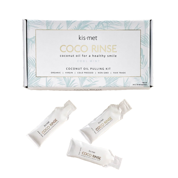 Mint Coconut Oil Pulling Kit for Teeth Whitening | Kismet Essentials