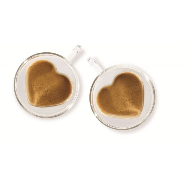 Heart shaped coffee cup set