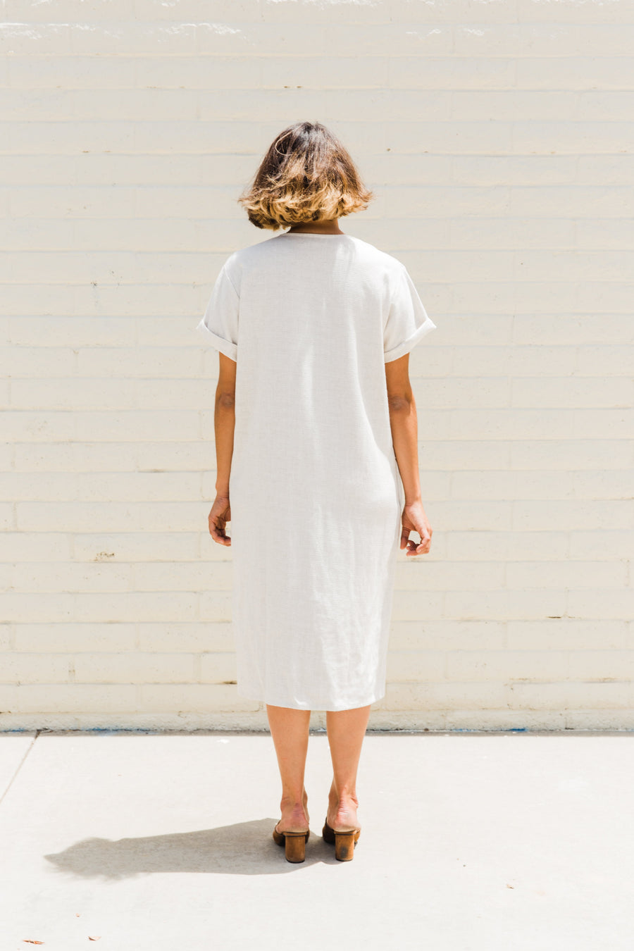 Joy Button Front Linen Dress