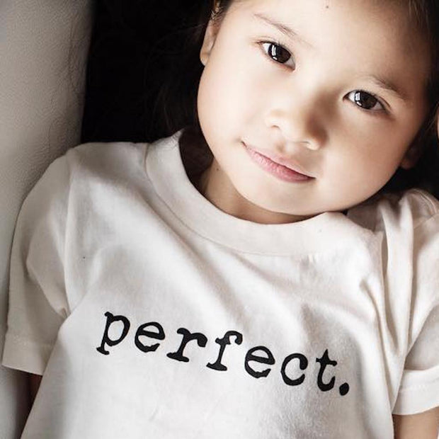 Tenth and Pine's perfect design made of the natural organic cotton in the USA. This modern and timeless piece is the perfect gender neutral tee for every girl and boy.