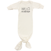 Hello Im New Here - Organic Infant Gown