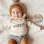 Happy - Organic Bodysuit - Long Sleeve