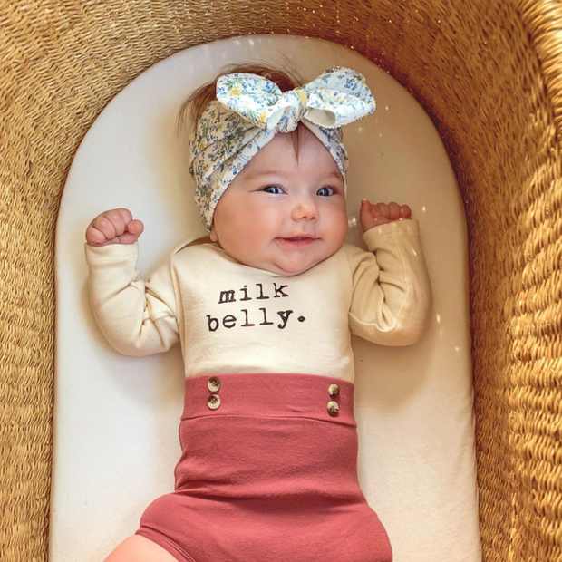 Milk Belly - Organic Bodysuit - Long Sleeve
