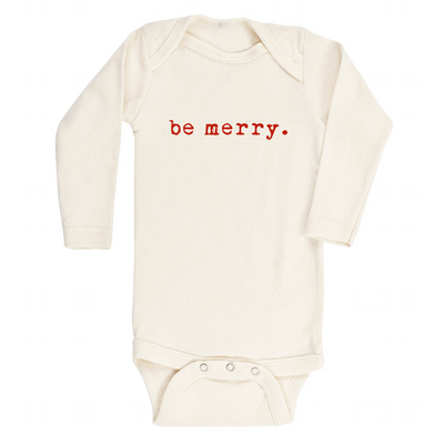 Be Merry - Organic Bodysuit - Long Sleeve