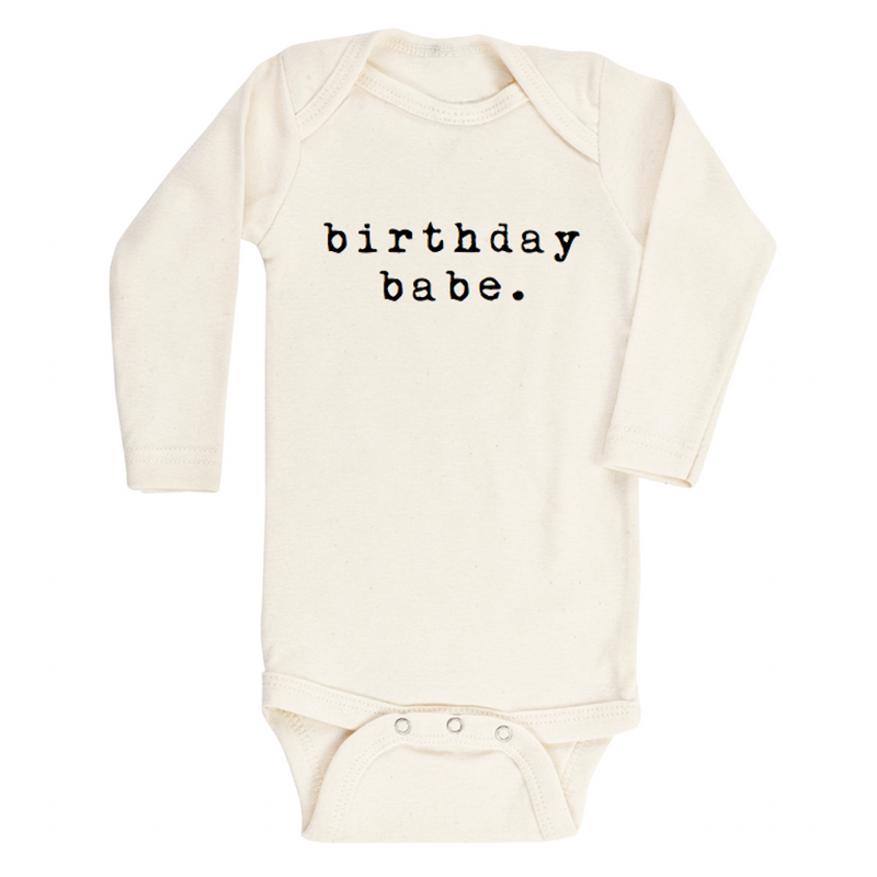 Birthday Babe - Organic Bodysuit - Long Sleeve