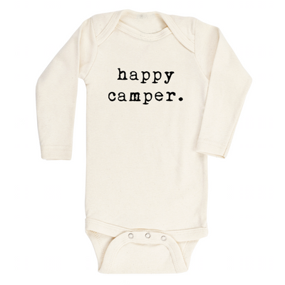 Happy Camper - Organic Bodysuit - Long Sleeve
