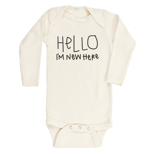 Hello Im New Here - Organic Onesie - Long Sleeve