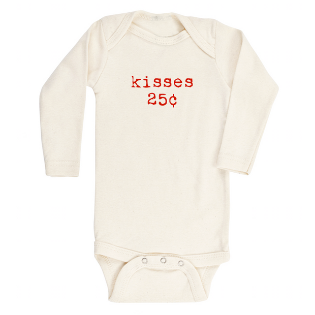 Kisses - Organic Bodysuit - Long Sleeve