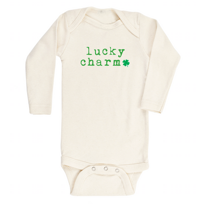 Lucky Charm Shamrock - Organic Bodysuit - Long Sleeve