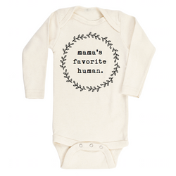Mama's Favorite Human - Organic Bodysuit - Long Sleeve